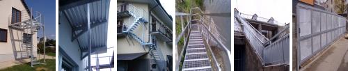 Ocelové schody a zábradlí